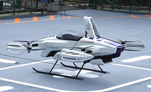 В Японии совершил первый публичный пилотируемый полет летающий автомобиль SkyDrive SD-03